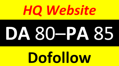 Write and publish on HQ Website at cheapest ever DA 80