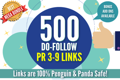 ★ GET 500 DO-FOLLOW PR 3-9 BACKLINKS SUBMITTED TO RANK HIGHER ★