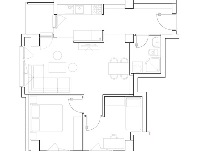 Covert, redraw floor plans, drawing from pdf in to Autocad