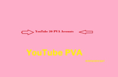 Give you 20 YouTube PVA Accounts by( USA Number ) Varified