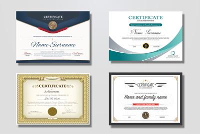 Do a  professional Certificate or Award Design