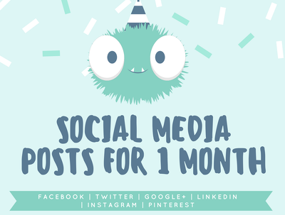 Create 30 social media posts for your business/personal brand