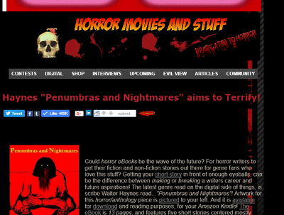 Give you 6 month ad spot on our Horror Movie Entertainment Site