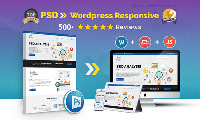 Convert PSD to Responsive Wordpress site using Bootstrap + JS