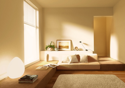Model & render a 3D photo-realistic image of an interior