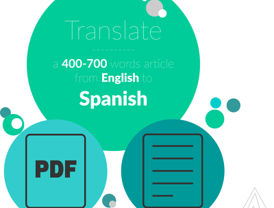 Translate a 400-700 words article from English to Spanish