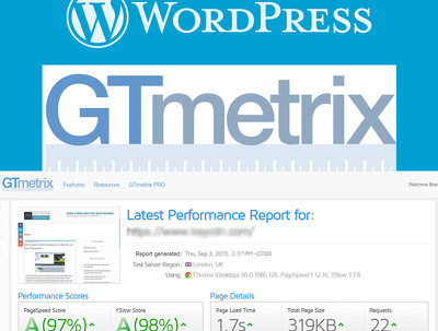 Optimize GTMetrix page speed, core of WordPress blog by over 90%