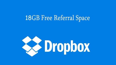 Expand your dropbox account storage till 18 GB