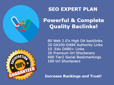 Provide High Quality Backlinks from Authority Websites