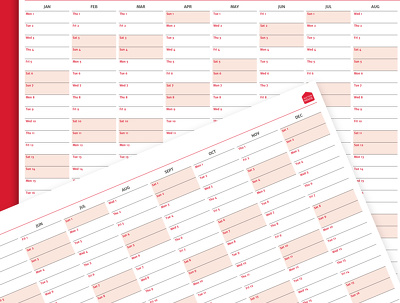Design your custom 2018 business wallplanner