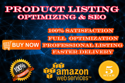 Do Amazon product listing and ranking with SEO for your store