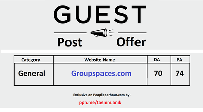Groupspaces.com Dofollow, DA70 PA74 TF56 guest post