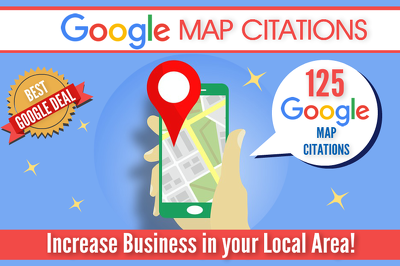 ★ GET 125 GOOGLE MAP CITATIONS FOR HIGHER LOCAL SEO RANKING ★