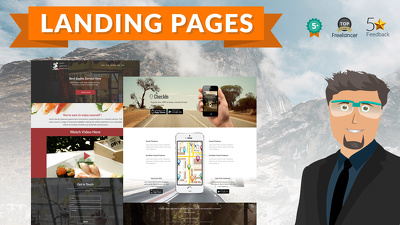 Design, code and setup your landing page or holding page