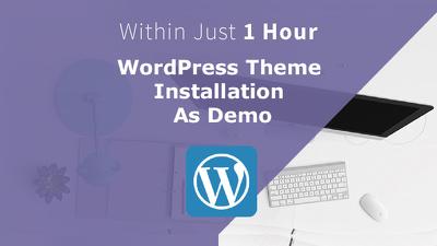 Install any WordPress Theme just like Demo