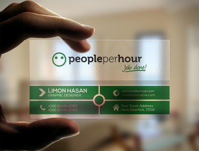 Design a Transparent Business Card/ Visiting Card