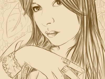 Draw you in anime cartoon style line art