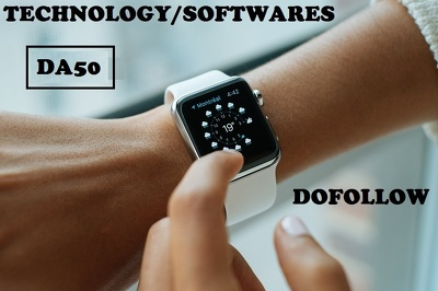 Guest post on Technology and softwares DA50 Niche blogs