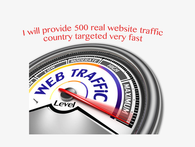 Provide 500 real website traffic country targeted very fast