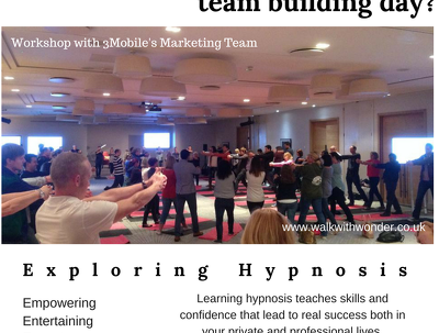 Provide hypnotism workshops perfect for team building.