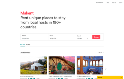 Build you a clone of Airbnb