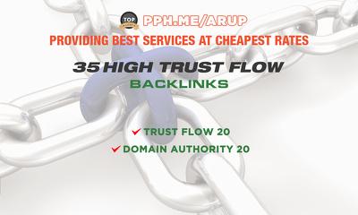 Do 35 High Trust Flow, Backlinks To Website