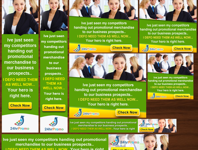 Desin Stunning, Eye Catching Adwords Banner (8 different sizes)