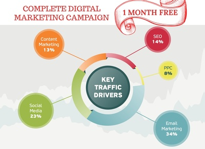 Complete Digital Marketing Campaign for 1 Month (+1 Month Free)