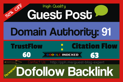 Write a Guest Post On High Quality Blog For Top Google Rankings