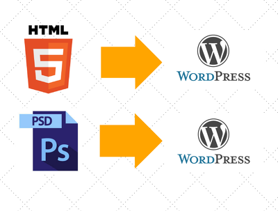 Convert html or psd to wordpress
