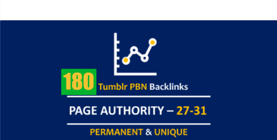 180 Permanent Tumblr Da99 Pbn Blog Post Links