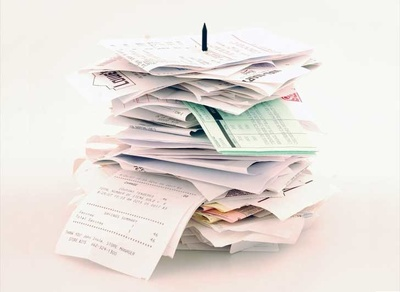 Sort your receipts & provide an Excel spreadsheet