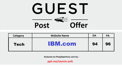 Write And Publish IBM DA94 PA96 Dofollow