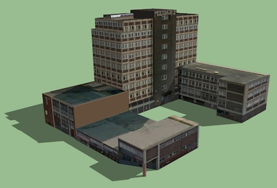 Draw a 3D sketchup model of a building