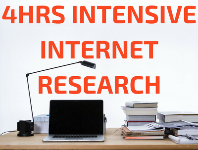 Perform 4 hours of intensive web research