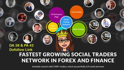 High quality Forex/Finance Niche Guest Post DA 38 -Dofollow Link