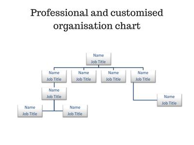 Design a professional company organisation chart