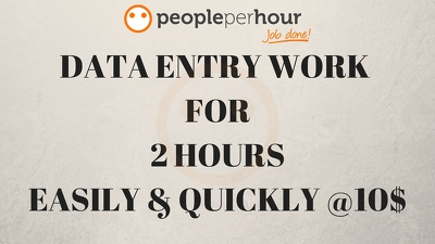 Do all types of Data Entry work For 2 hrs