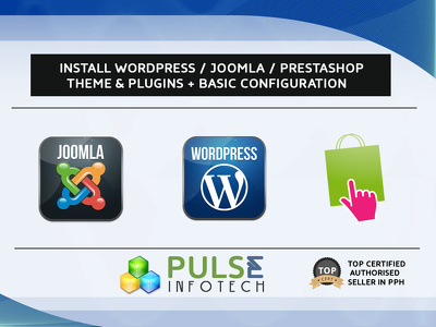 Install Wordpress / Joomla / Prestashop + Theme & Plugins