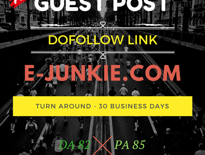 Guest Post in E-JUNKIE.COM DA:82 PA:85 with DOFOLLOW BACKLINK