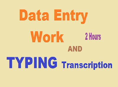 Do  any type Data Entry work 3 hours