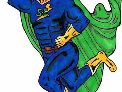 Design a comic book character/ cartoon character