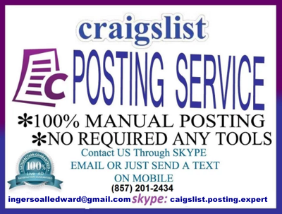 Post your 100 ads on craigslist any section on all over the USA