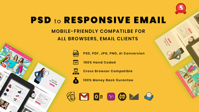 Code PSD to responsive HTML email MailChimp template