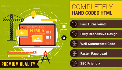 Convert PSD to responsive HTML - Web Pages for any of website