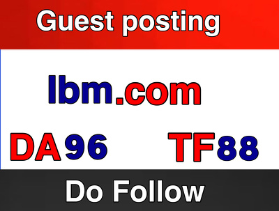 Guest post on IBM . IBM.com Do Follow