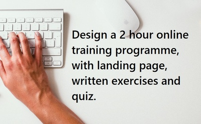 Write a 2 hour online training programme
