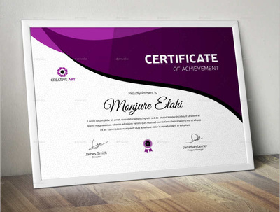 Do a professional certificate design
