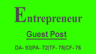 Publish Guest Post on Entrepreneur - Entrepreneur.com - DA93, TF