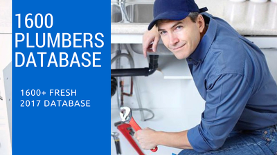 Provide UK Plumber's Database of 1600+ records in Excel format